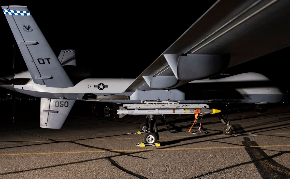 In the test, the MQ-9 successfully employed a live air-to-air AIM-9X Block 2 missile against a target BQM-167 drone simulating a cruise missile.