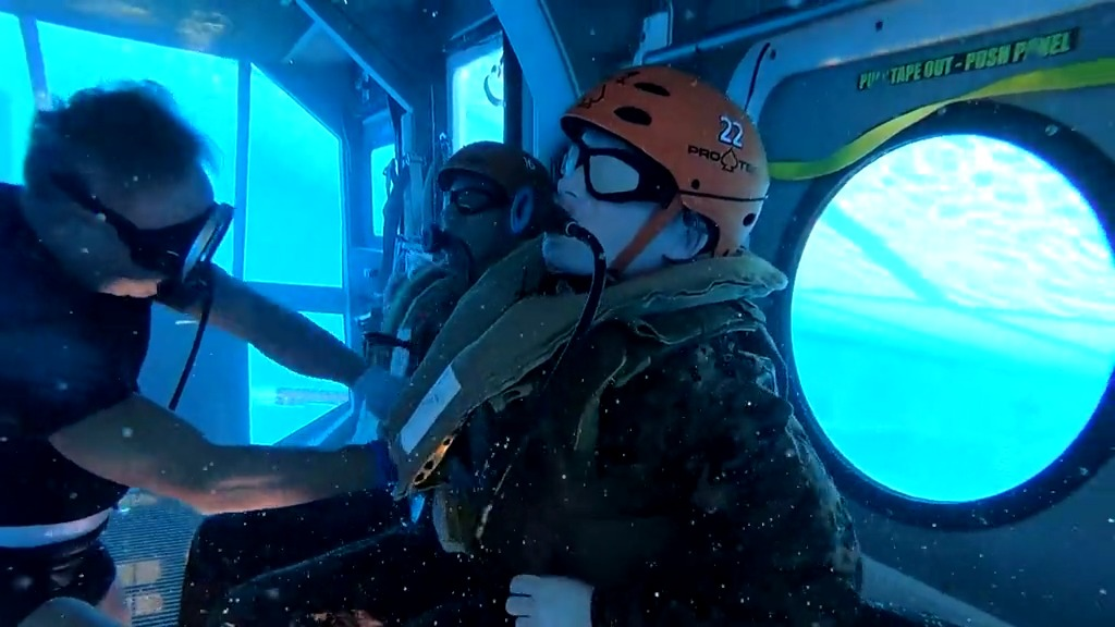 US Marines Corps 3RD MLG Helicopter Underwater Egress Training (HUET)
