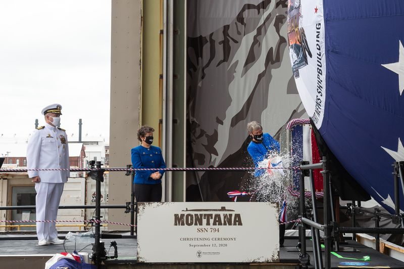 USS Montana (SSN 794) Christened During Virtual Ceremony at Newport News Shipbuilding