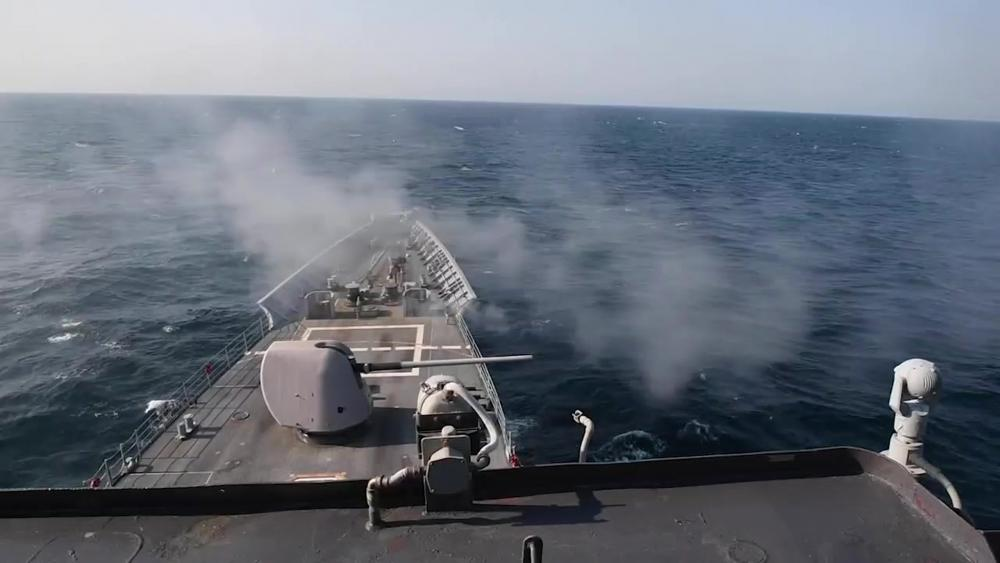 USS Princeton Live Fire Exercise in the Persian Gulf