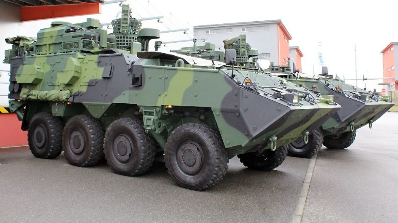 Czech Army Pandur II 8x8 Armoured Personnel Carrier