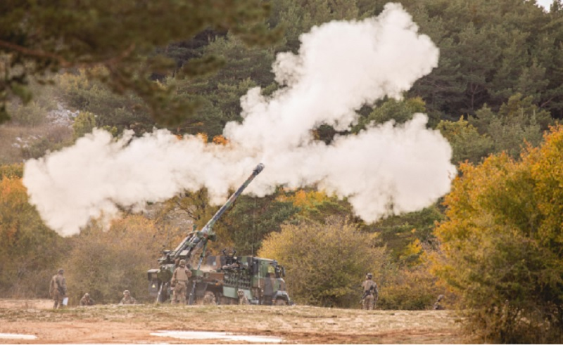 French Army Extends Nexter Support Contract for Caesar Self-Propelled Howitzer