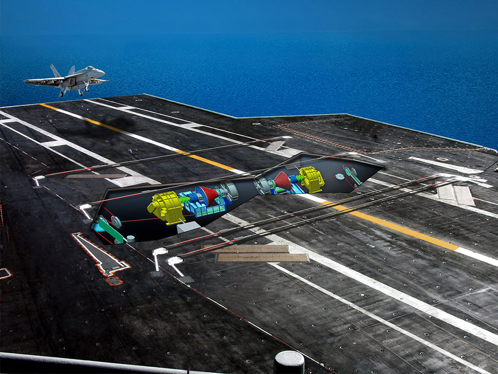 GA-EMS Advanced Arresting Gear (AAG) Below Deck View