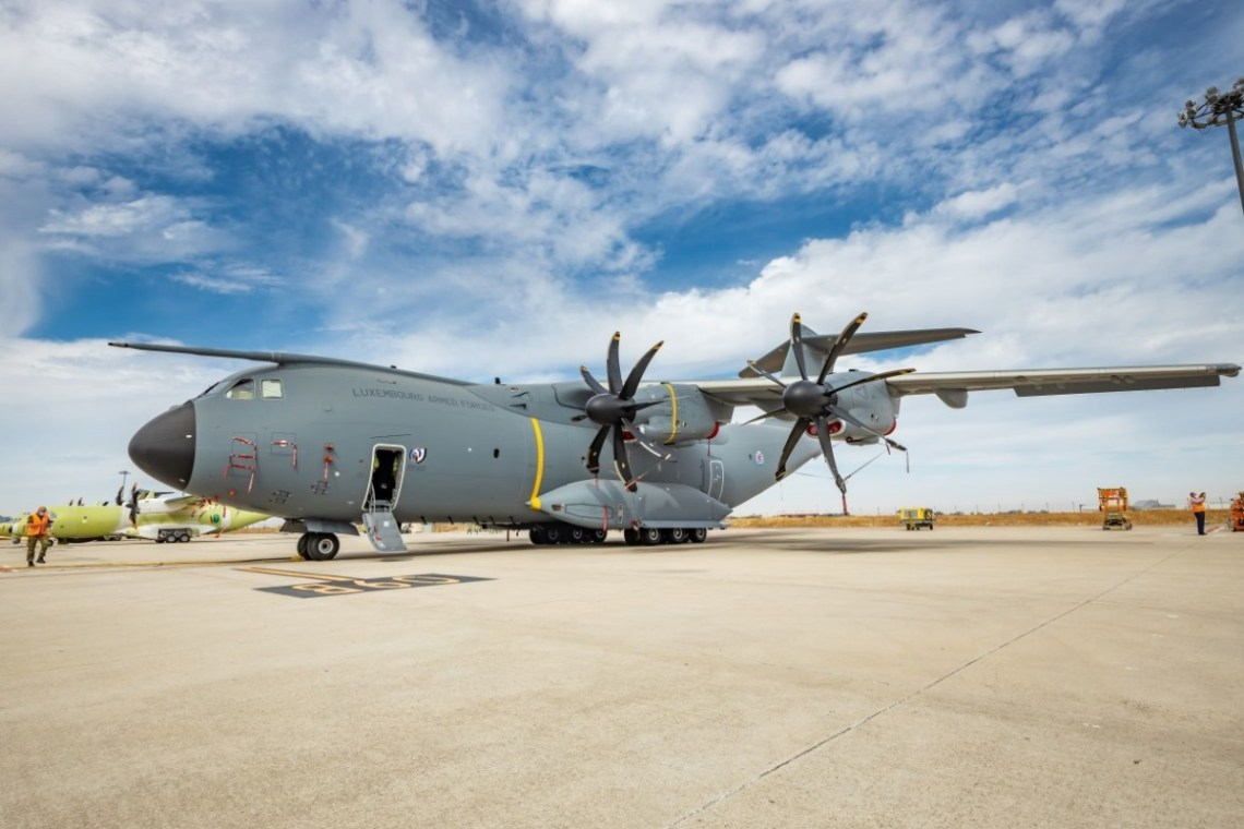 Luxembourg Armed Forces received first Airbus A400M Atlas military aircraft
