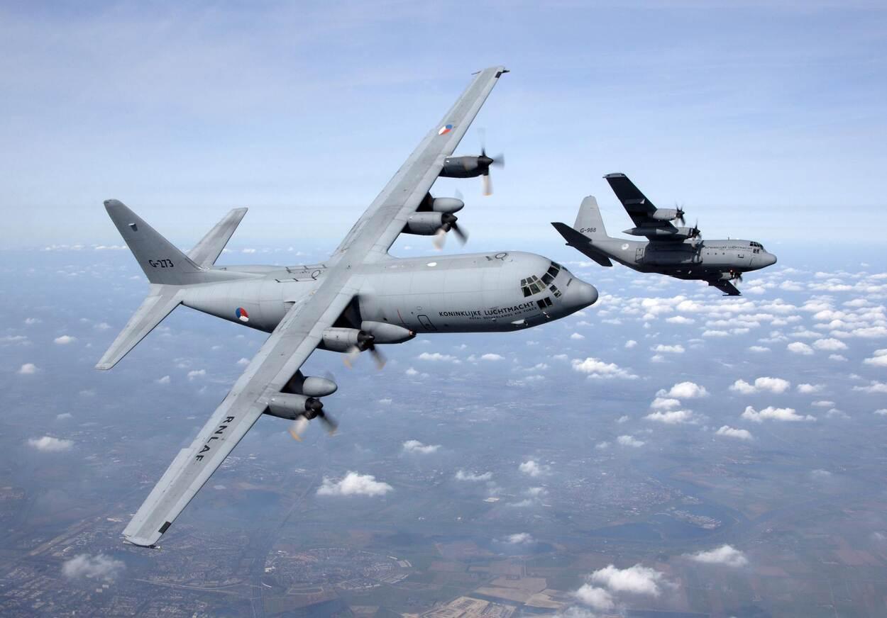 Royal Netherlands Air Force C-130H Hercules Transport Aircraft