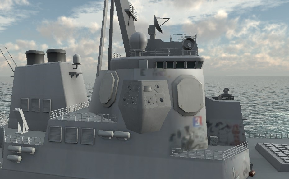 Artist's rendering of the Surface Electronic Warfare Improvement Program (SEWIP) Block 3