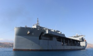 US Navy Transfers Expeditionary Sea Base Ship USS Hershel Williams to Crete