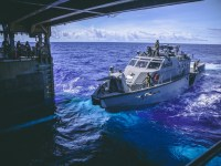 US Navy USS Comstock Embarks Mark VI Patrol Boats and ExMCM for Maritime Security Operations
