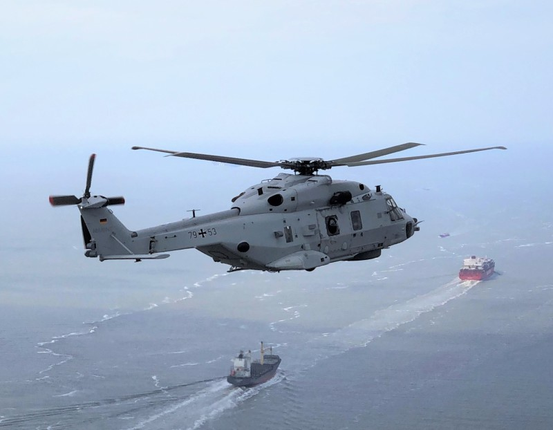 German Navy NH90 Sea Lion Helicopter