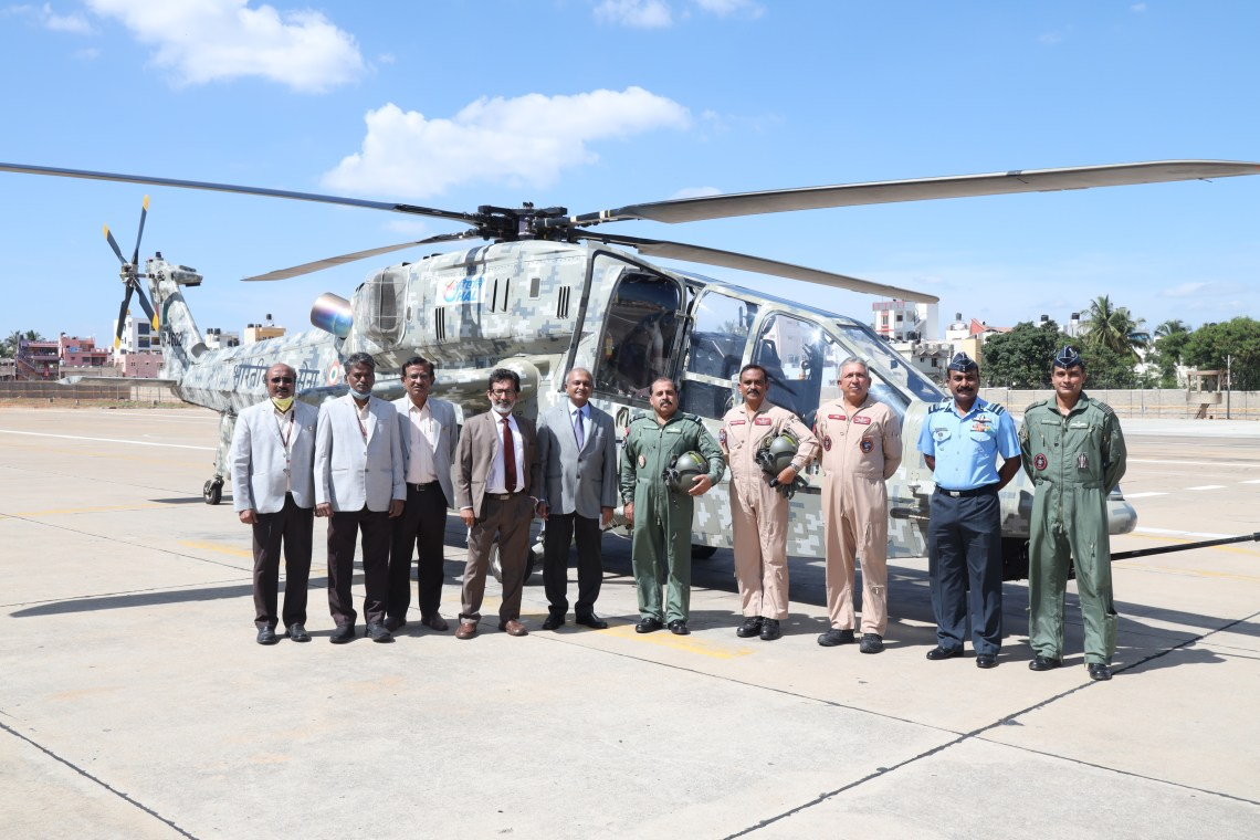 Indian Air Chief Takes First-Hand Look at Light Combat Helicopter (LCH) Program