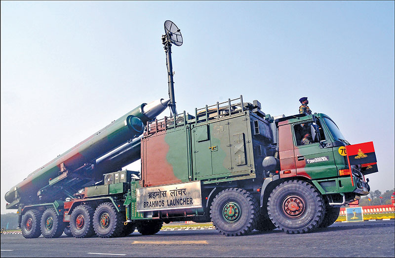 Indian Army BRAHMOS Land Attack Cruise Missile