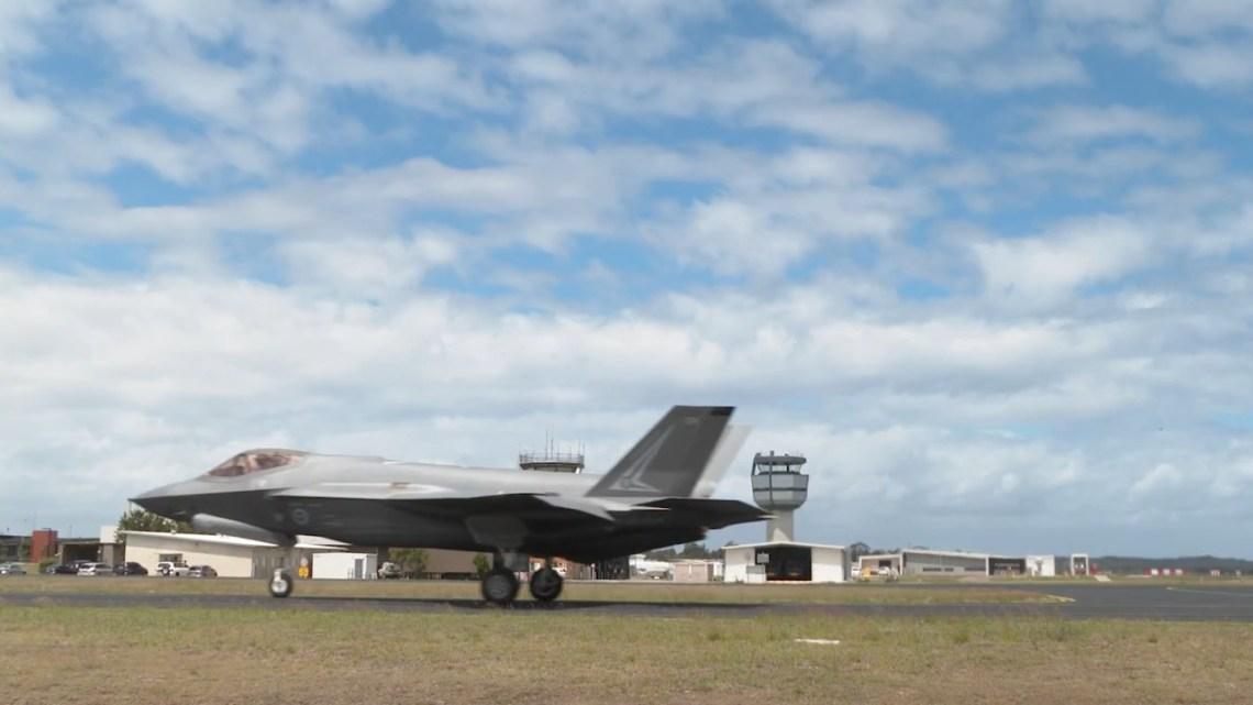 Nine F-35A Lightning II Arrive at RAAF Base Williamtown