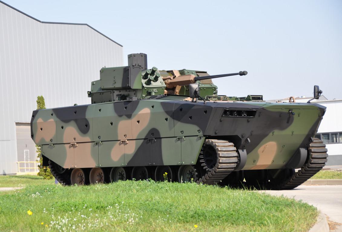 Polish Army Borsuk Amphibious Armored Vehicle