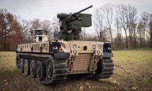 Robotic experts QinetiQ and Pratt Miller deliver first RCV-L vehicle to U.S. Army GVSC personnel at Selfridge Air National Guard Base on November 5, 2020