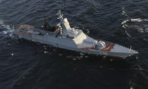 Russian Corvette Boykiy Replenished Fuel and Water Supplies at Sea