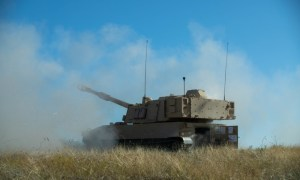 US Army Greywolf Brigade Hosts Brand New M109A7 Paladin Live Fire Demonstration