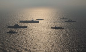 US Navy Nimitz Strike Group Concludes Malabar 2020 with Australia, India and Japan