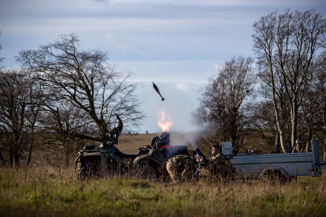 Royal Marines CanAm 6×6 Mortar Vehicles