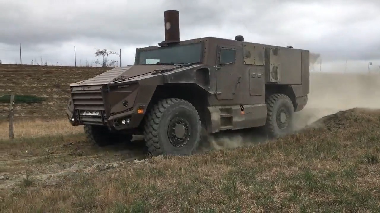 French Defense Procurement Agency Unveils Mine Blast Tests with New Serval 4x4 Armored Vehicle