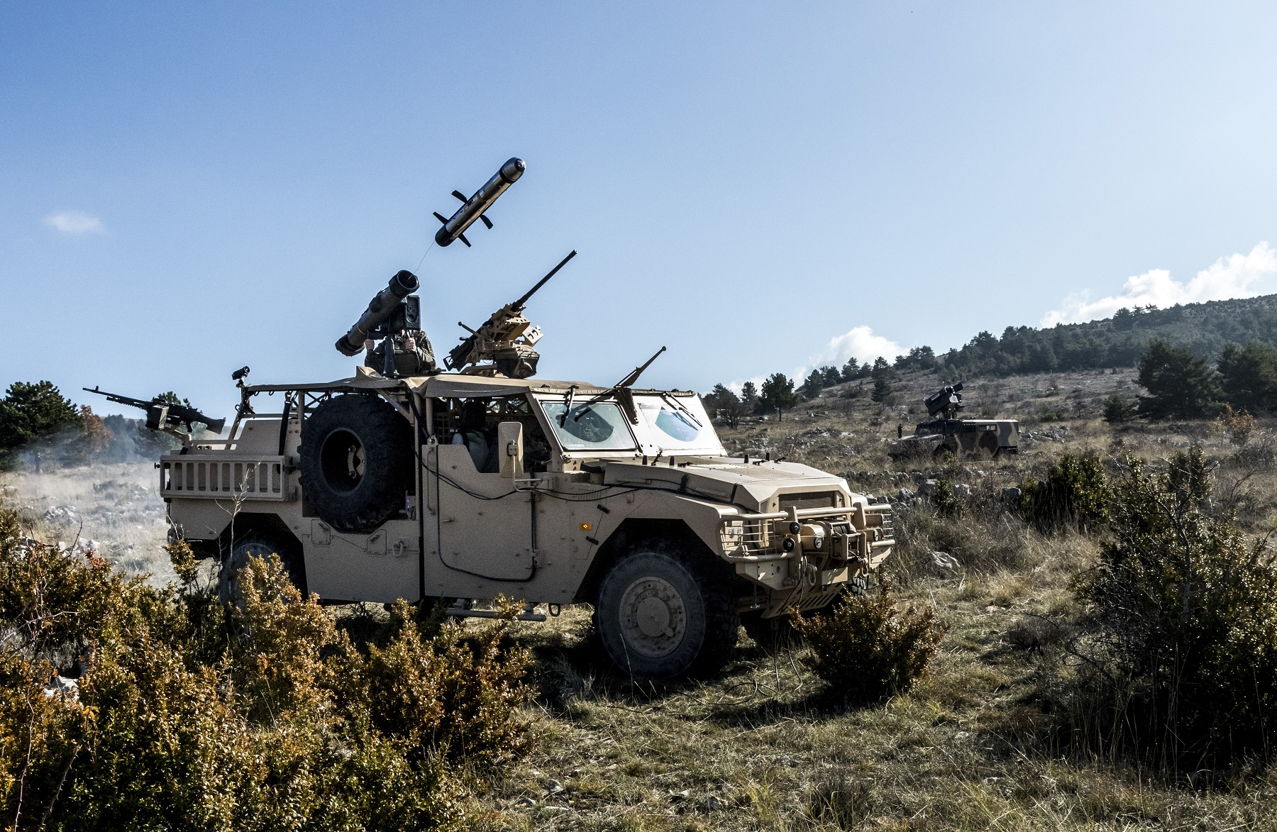 First Firing of MBDA MMP Anti-Tank Guided Missile from ARQUUS Sabre Special Forces Vehicle