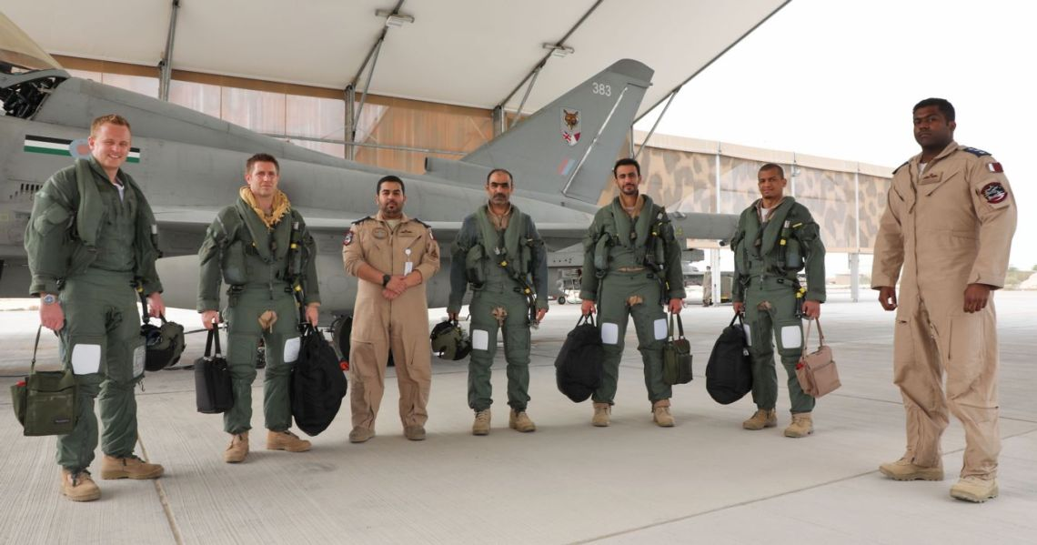 12 Squadron are the RAF's first joint squadron since World War II, with pilots and engineers from the Qatar Emiri Air Force embedded within its ranks.