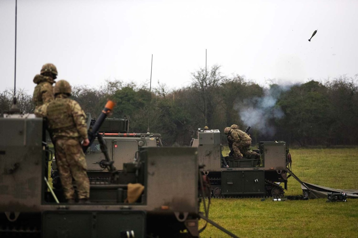 Royal Marines Viking Mortar Vehicles