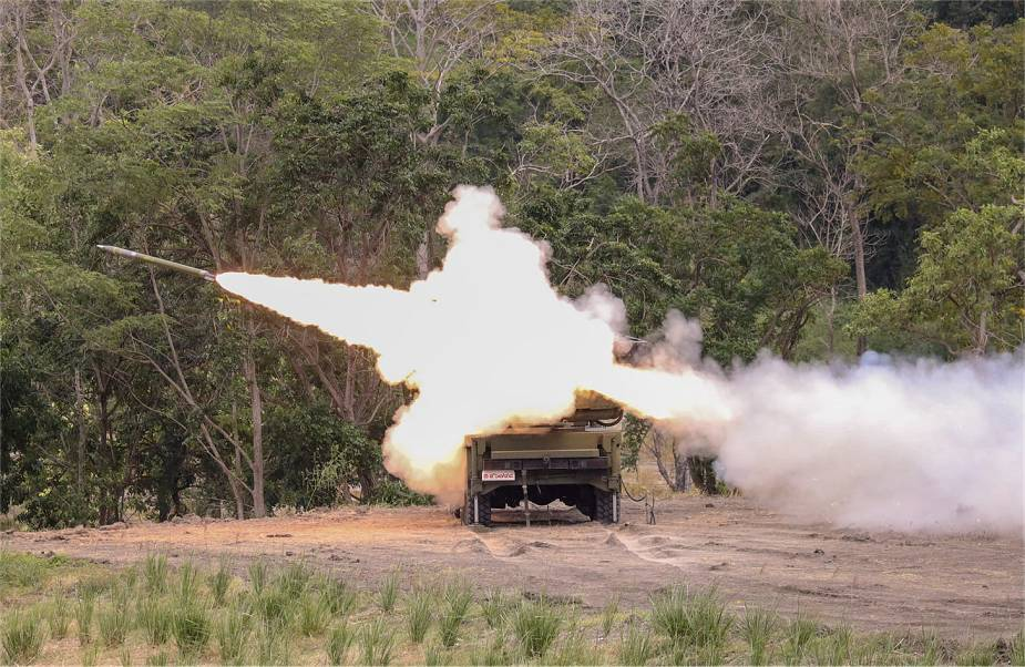 Royal Thai Army Successfully Test-fires First Indigenous DTI-2 122mm Rockets