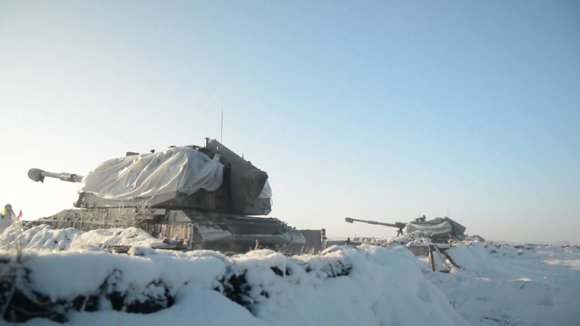 Russian Central Military District 2S19 Msta-S 152mm self-propelled howitzer