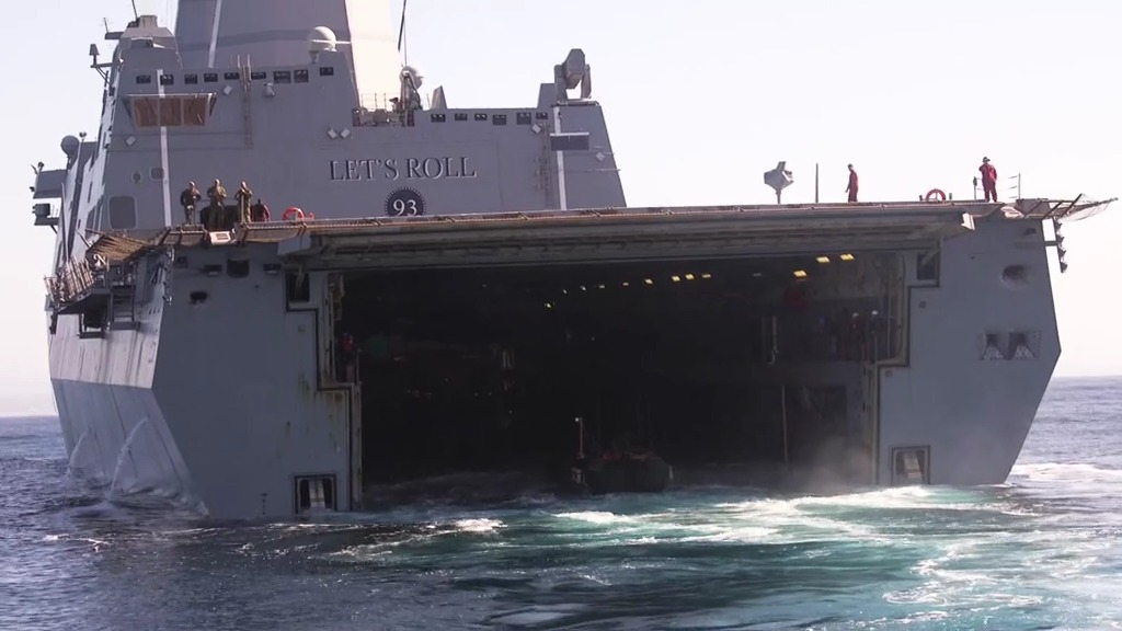 US Marine Corps test new ACV's ability to integrate with naval shipping.