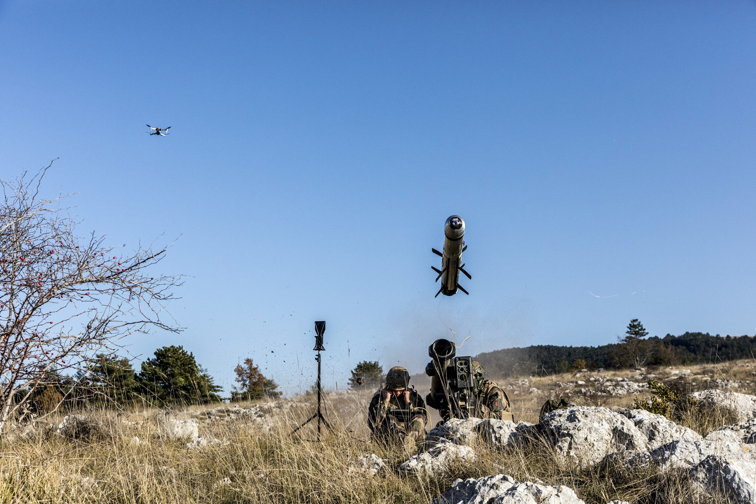 Successful MMP Anti-tank Guided Missile Firing with Target Designation Made by a Novadem Drone