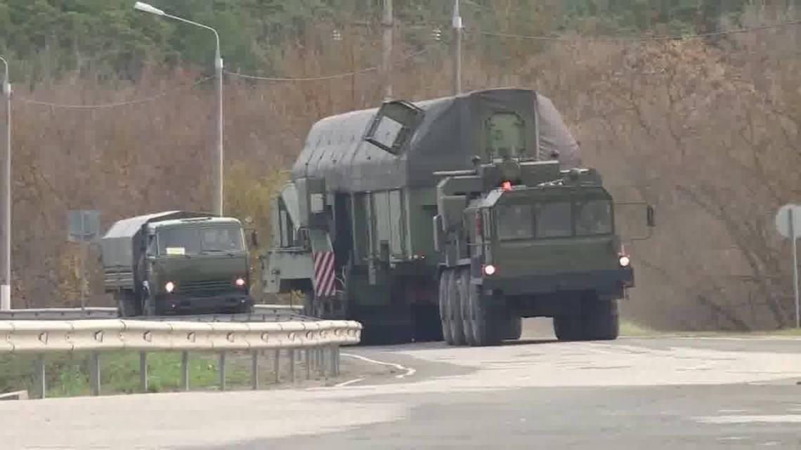 Loading of RS-24 Yars Intercontinental Ballistic Missile to Underground-silo Launcher