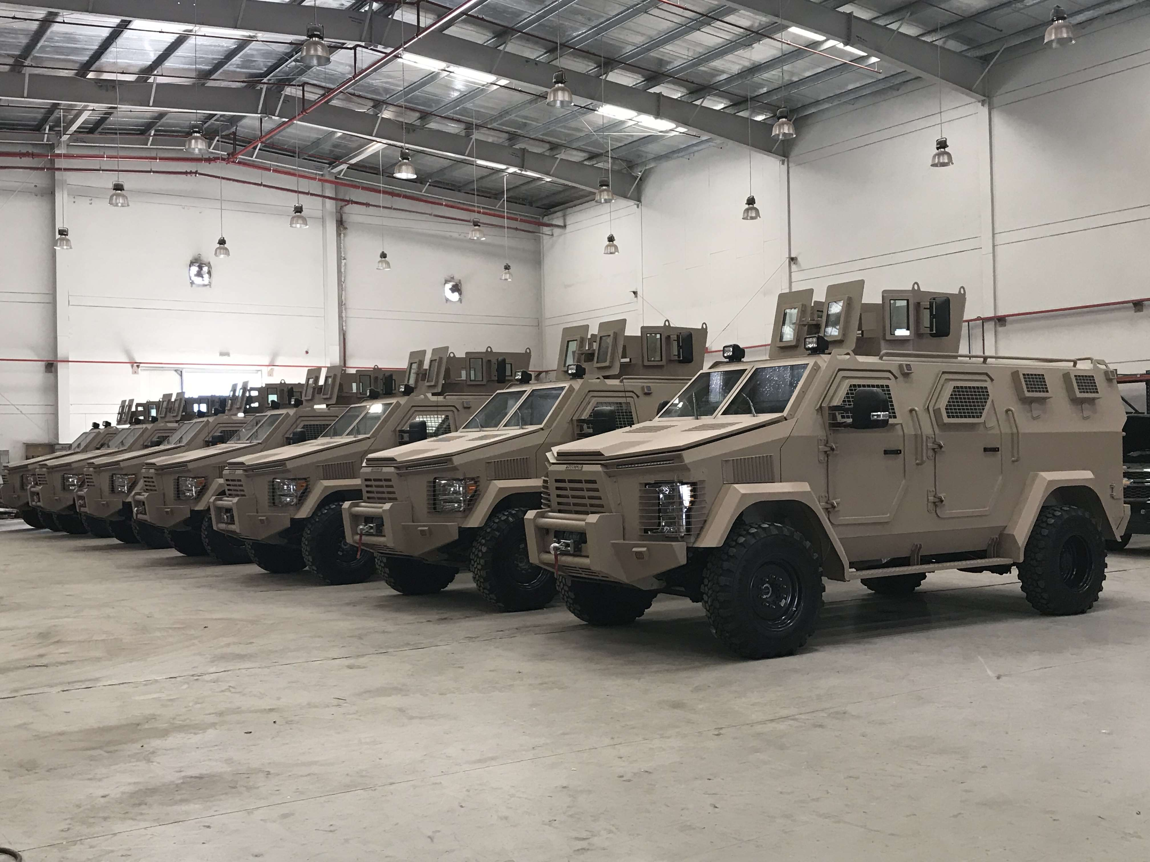Nigerian Army Unveils Isotrex Phantom 2 Armoured Personnel Carriers