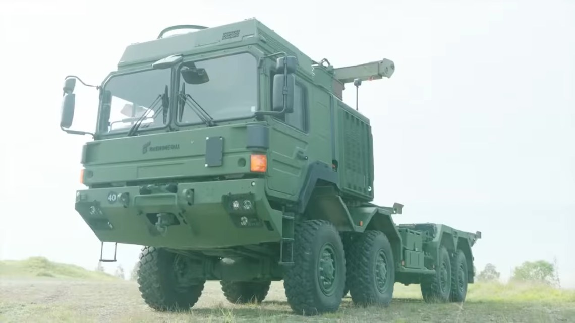 Supashock ALHS 17, fitted to a Rheinmetall MAN Military Vehicles HX 8x8 truck