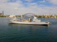 Royal Australian Navy NUSHIP Supply (A 195) Arrives at Her Sydney Homeport