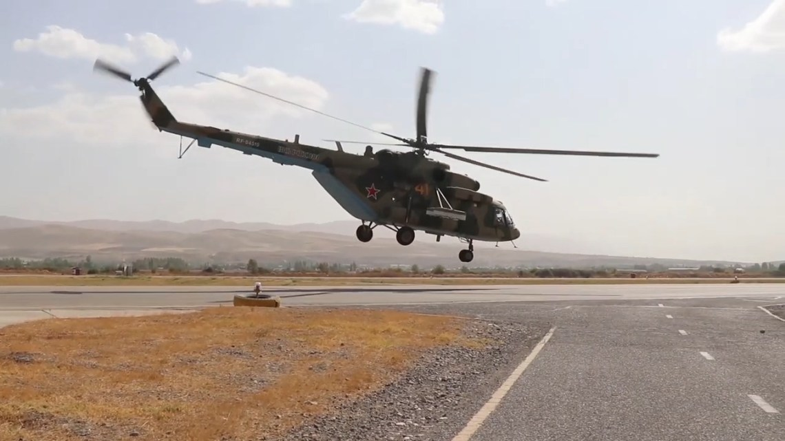 Russian 201st Military Base Mil Mi-8 transport helicopter