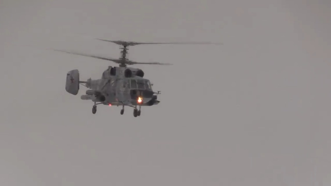 Russian Navy Ka-29 assault helicopter