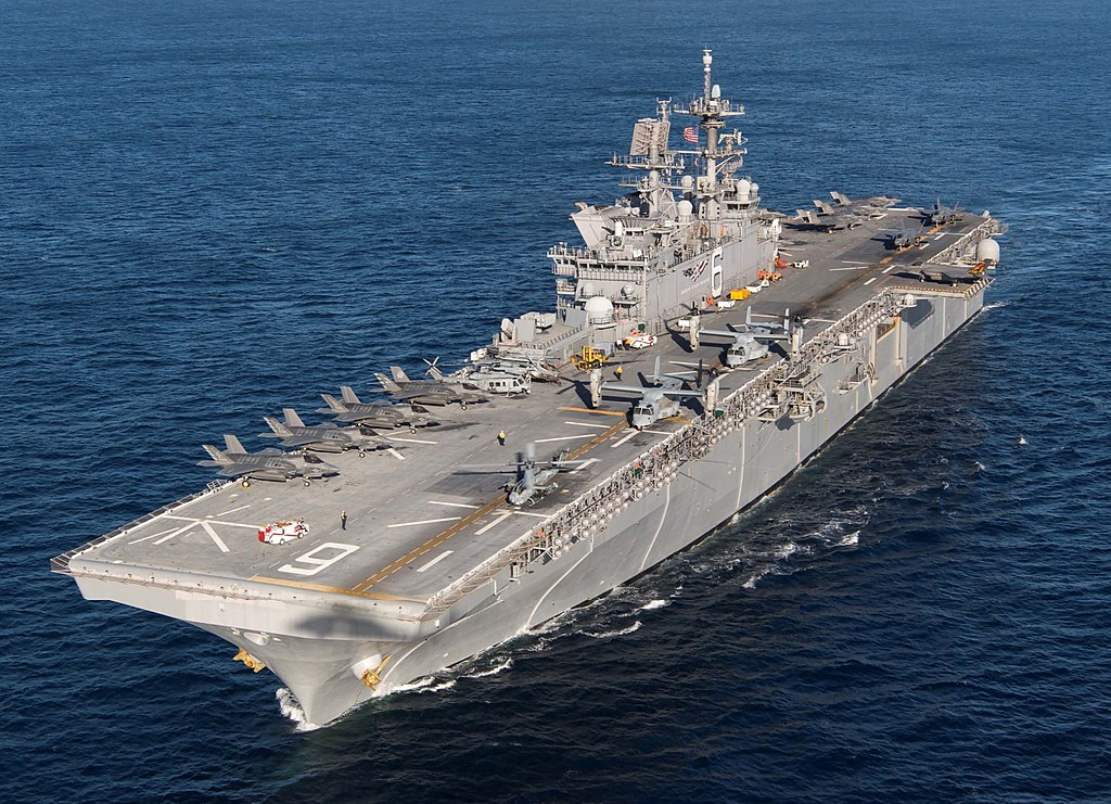 U.S. Navy amphibious assault ship USS America (LHA-6)
