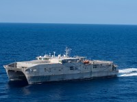 US Navy USNS Trenton Conducts Maritime Operations with Tunisian Navy