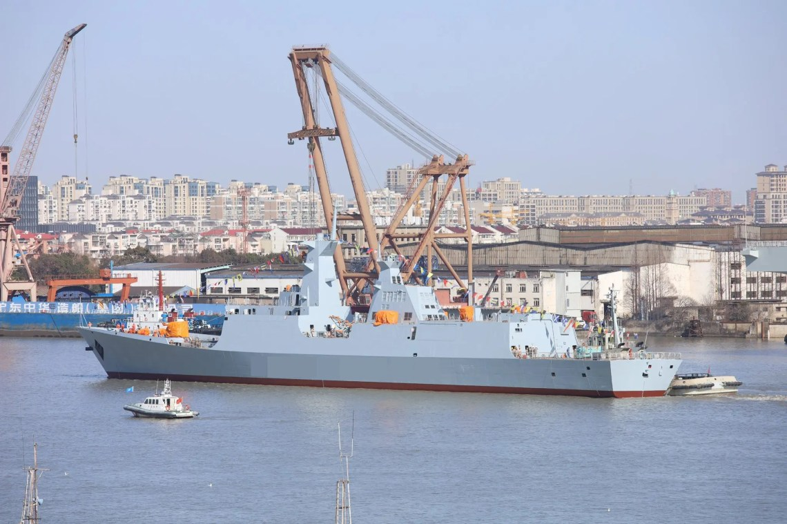 The second Type 054 A/P frigate for Pakistan was launched at the Hudong Zhonghua shipyard in Shanghai.