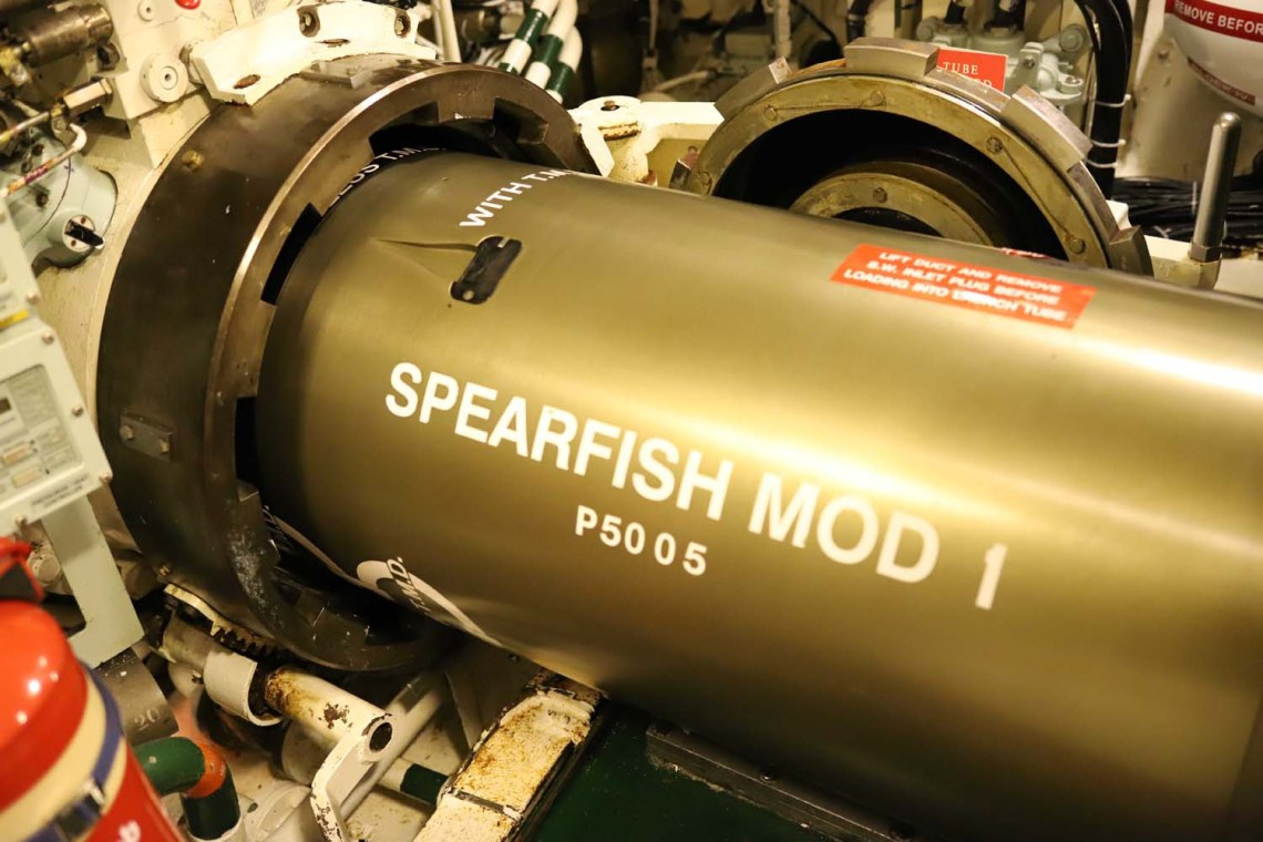 HMS Talent carries out Spearfish torpedo trials off the west coast of Scotland