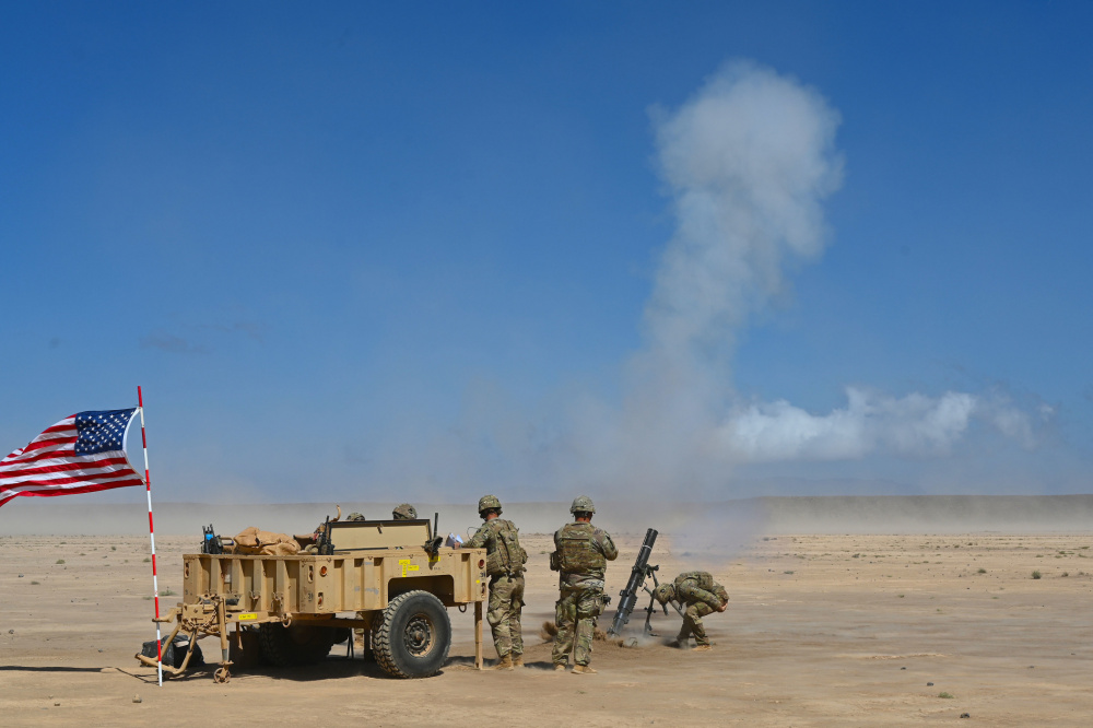 US and French Soldiers Conduct Live Fire Artillery Drill in Djibouti