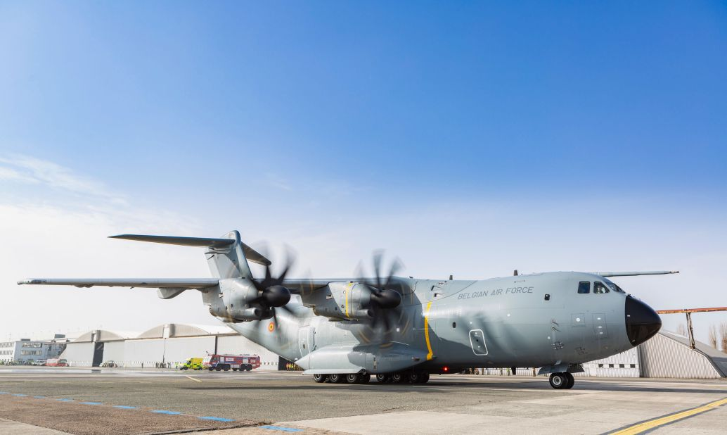 Belgian Air Component received three Airbus A400M Atlas aircrafts into Melsbroek