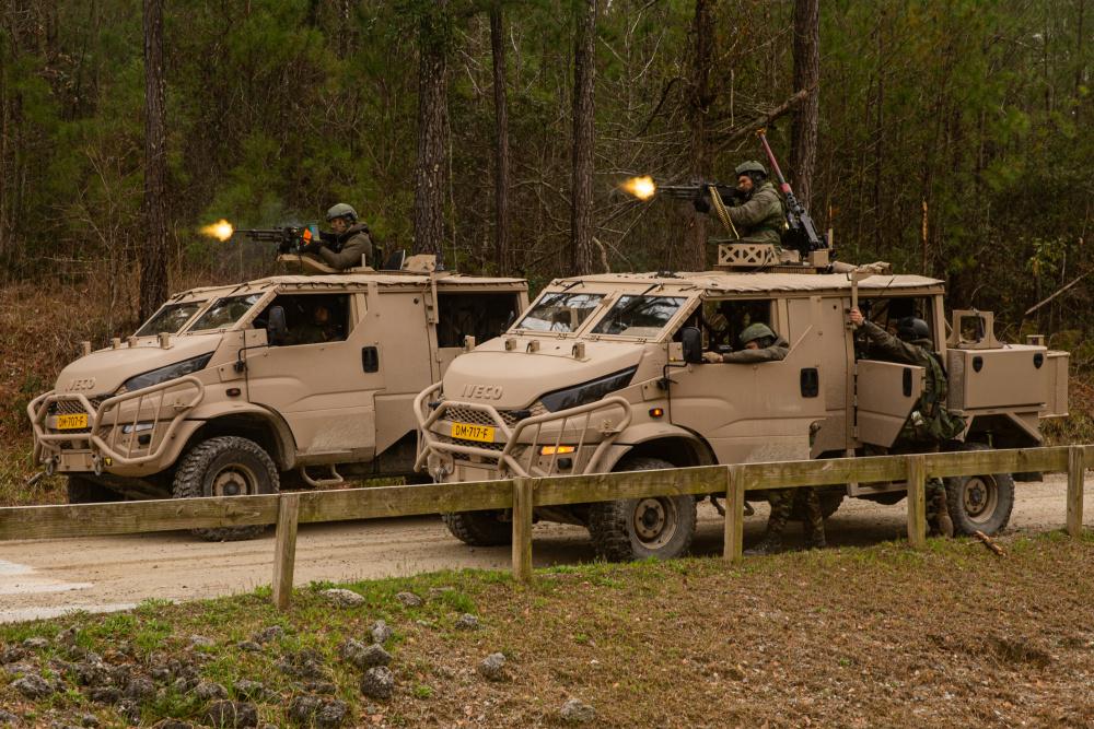 Dutch Marines Participate MOUT Training on Camp Lejeune, North Carolina