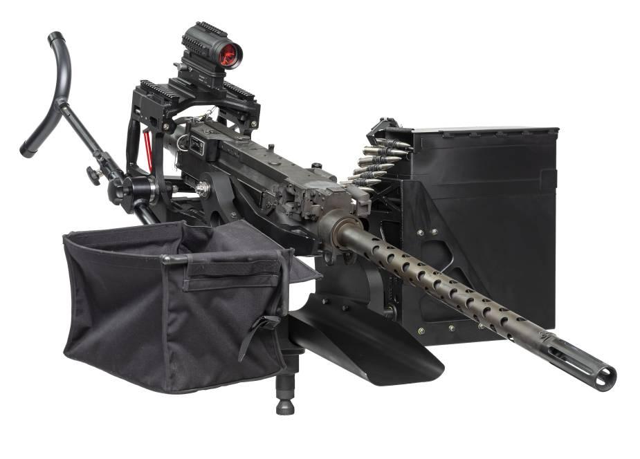 FN M3M WM machine gun mount with 50 cal FN M3M machine gun.
