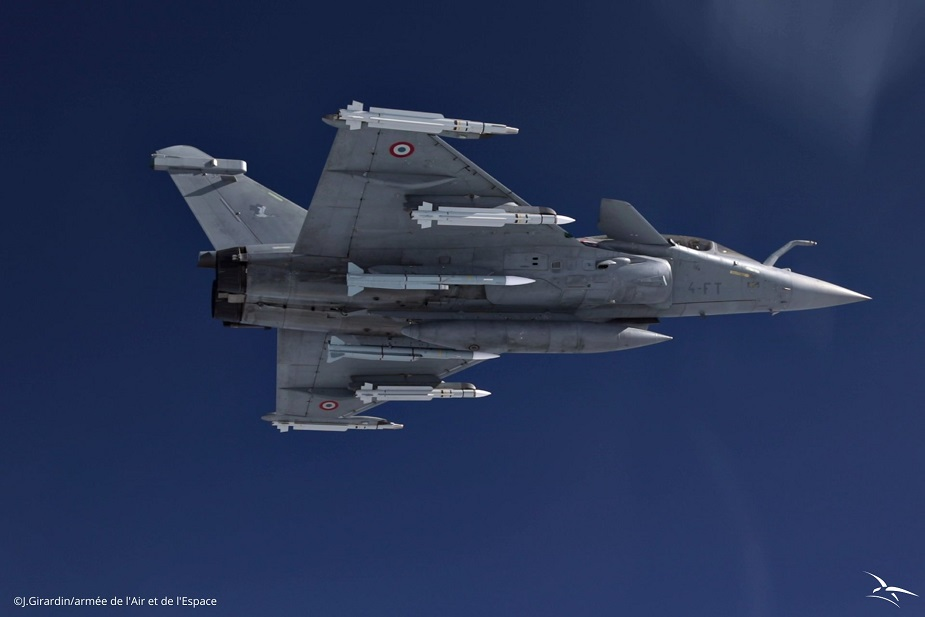 French Air Dassault Rafale F3R Equipped with METEOR Missiles Makes First Operational Flight