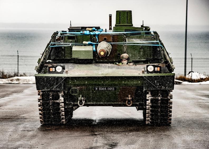 French and British Armoured Vehicles Aarrived at Paldiski, Estonia