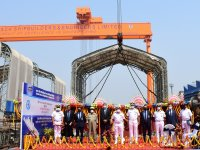 Indian Shipbuilder GRSE Lays Keel of Indian Navy's Third Nilgiri-class Stealth Frigates