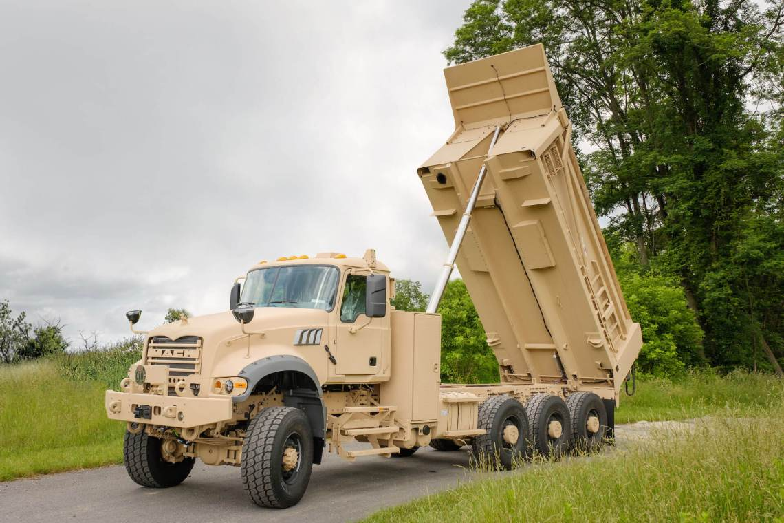 Mack Defense M917A3 non-armored Heavy Dump Trucks (HDT)