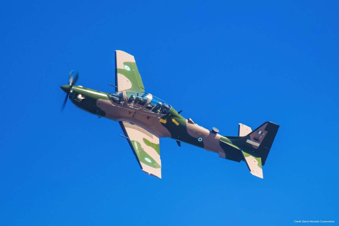 Nigerian Air Force A-29 Super Tucano light attack