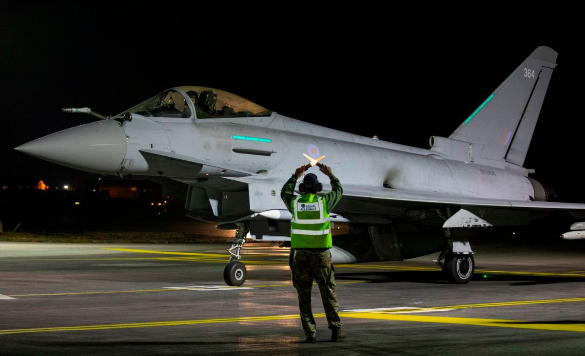 Royal Air Force Eurofighter Typhoons Conduct Strikes Against Daesh in Support of Iraqi Ground Forces